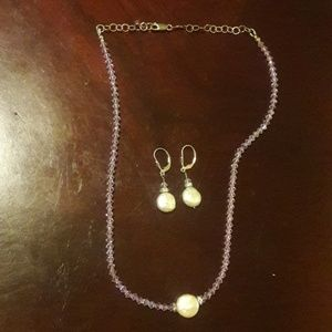 Jewelry - Sterling Silver & Freshwater Pearl Set